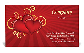 Valentines Day Business Card Template