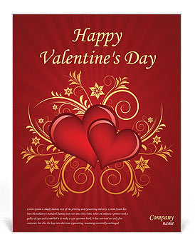 Valentines Day Flyer Template Design Id 0000000875