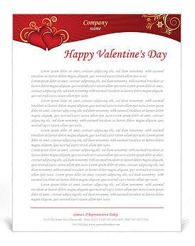 Valentines Day Letterhead Templates