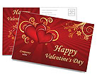 Valentines Day Postcard Templates