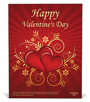 Valentines Day Poster Template Design Id 0000000875