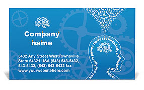 Knowledge & Thinking Business Card Templates