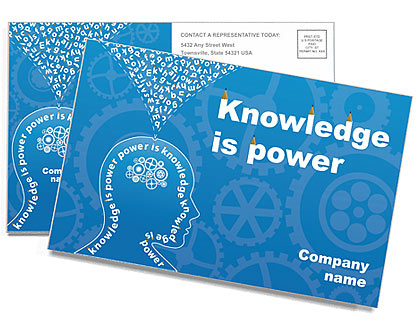 Knowledge & Thinking Postcard Template