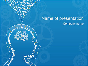 知識&思考 PowerPointプレゼンテーションのテンプレート