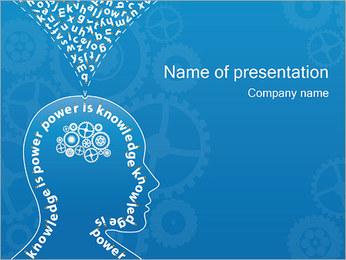 Kennis & Denken Sjablonen PowerPoint presentatie