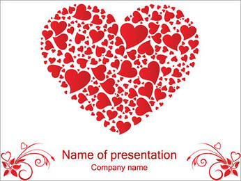 Love Hearts PowerPoint Template