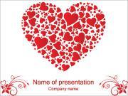 Liefde Hearts Sjablonen PowerPoint presentaties
