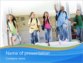 School Children PowerPoint Template - Slide 1