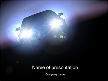 Auto PowerPoint Template - Slide 1