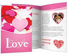 Hearts Brochure Templates