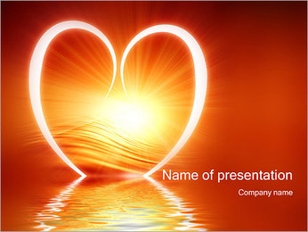 Reflected Heart PowerPoint Template