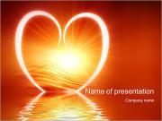 Weerspiegeld Hart Sjablonen PowerPoint presentaties