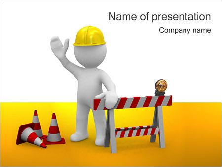 В стадии строительства и работник Шаблоны презентаций PowerPoint