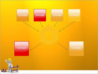 Under Construction & Trabalhador Modelos de apresentações PowerPoint - Slide 10