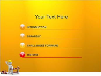 Under Construction & Trabalhador Modelos de apresentações PowerPoint - Slide 3