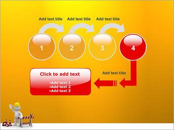 Under Construction & Trabalhador Modelos de apresentações PowerPoint - Slide 4