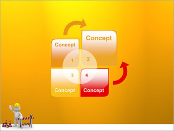 Under Construction & Trabalhador Modelos de apresentações PowerPoint - Slide 5