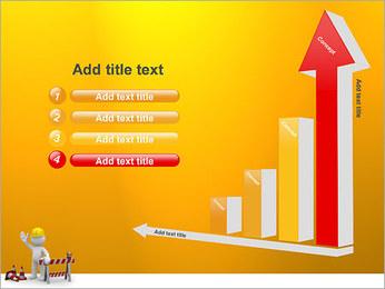 Under Construction & Trabalhador Modelos de apresentações PowerPoint - Slide 6