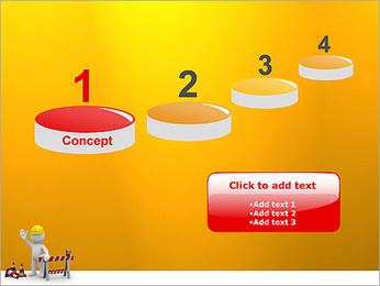 Under Construction & Trabalhador Modelos de apresentações PowerPoint - Slide 7