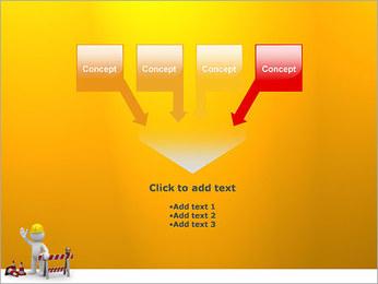 Under Construction & Trabalhador Modelos de apresentações PowerPoint - Slide 8