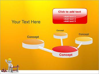 Under Construction & Trabalhador Modelos de apresentações PowerPoint - Slide 9