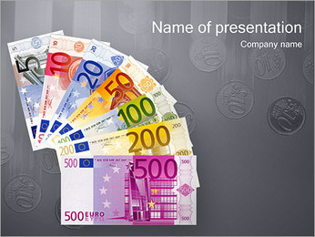 Euro Banknotes PowerPoint Template
