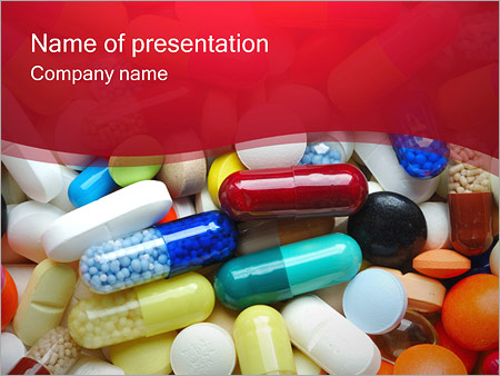 pills & tablets powerpoint template & backgrounds id 0000000899, Powerpoint templates