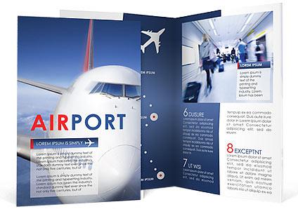 Airport Brochure Template Design Id 0000000909 Smiletemplates