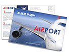 Airport Postcard Template