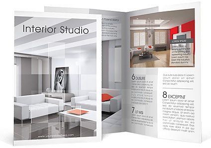Interior Brochure Template & Design Id 0000000910 - Smiletemplates.Com