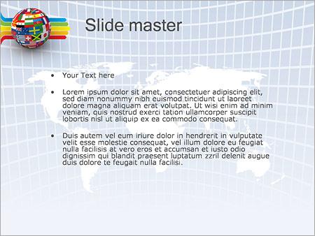 Banderas del mundo global Plantillas de Presentaciones PowerPoint
