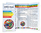 Global World Flags Brochure Templates