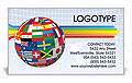 Global World Flags Business Card Template