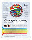 Global World Flags Flyer Template