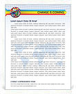 Global World Flags Letterhead Template