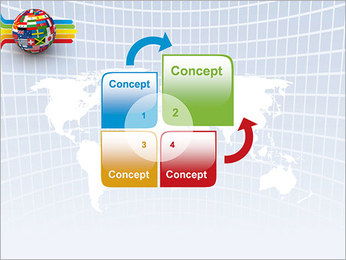 Global World Flags PowerPoint Template - Slide 5