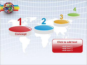Global World Flags PowerPoint Template - Slide 7