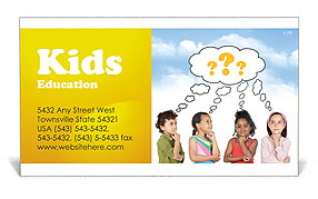 Children Thinks Business Card Templates