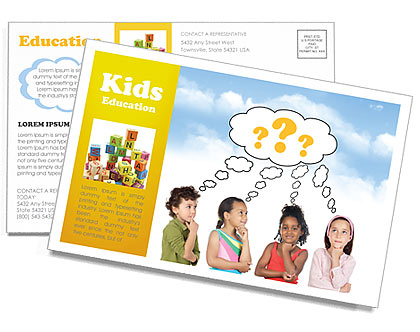 Crianças Pensa Cartões postai