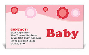 Baby Business Card Templates