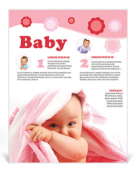 Baby Flyer Template