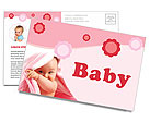 Baby Postcard Template