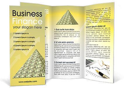 finance money brochure template design id 0000000917. Black Bedroom Furniture Sets. Home Design Ideas