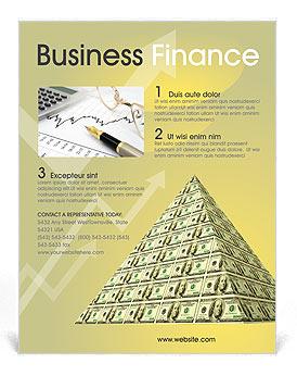 finance money flyer template design id 0000000917