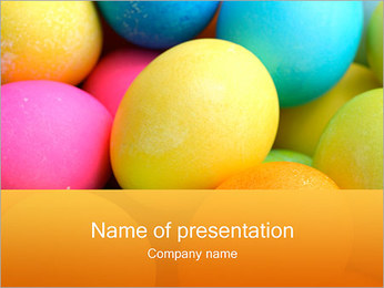 Colorful Eggs PowerPoint Template