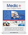 Stethoscope & Medicine Book Ad Templates