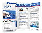 Stethoscope & Medicine Book Brochure Templates