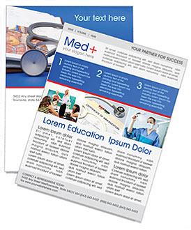 Stethoscope Medicine Book Newsletter Template