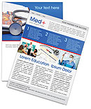 Stethoscope & Medicine Book Newsletter Template