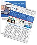 Stethoscope & Medicine Book Newsletter Templates